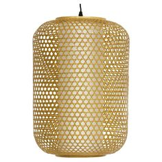 Taka WDLD101 Japanese Bamboo Hanging Lantern Pendant Light - WDLD101, Oriental Furniture