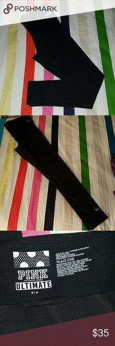 NWOT Victorias Secret thermal leggings. Black thermal leggings brand new never worn. PINK Victoria's Secret Pants Leggings