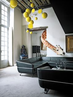 ..embrace the chicness of allowing your exotic pets to roam free in your designer flat..!?