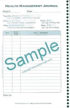 sample food journals