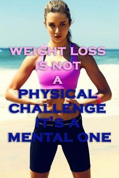Weight loss is not a physical challenge...it's a mental one.  http://tobicamilli.successin10steps.com