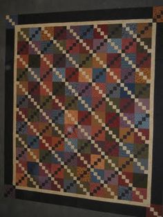 Double four patch scrap quilt from: rogue quilter: Quilting Roots
