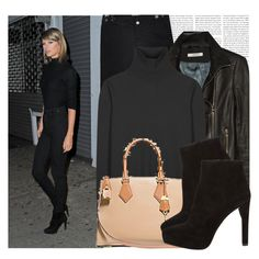 """Dress like Taylor Swift"" by megi32 ❤ liked on Polyvore featuring CourtShop, J Brand, Jil Sander and Prada"