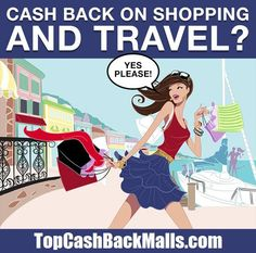 You Want to Get the MOST Cash Back Possible When You Shop Online, RIGHT? Signing Up Is Free: http://www.topcashbackmalls.com/