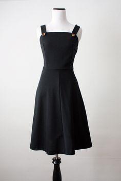 vintage 1970's black day dress