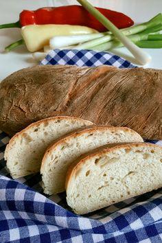 Ez egy nagyon finom, számunkra tökéletes kenyér recept. Pár perc munka, kelesztés és már süthetjük is a belül finom, puha, nem morzsálódós, ízes, kívül ropogós kenyeret, akár reggelire... Food And Drink, Bread, Yogurt, Brot, Breads, Bakeries