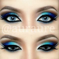 peacock colours .@auraure | Hi my IG family! Have a loovely day! Mystical Eye Makeup look I did the othe...