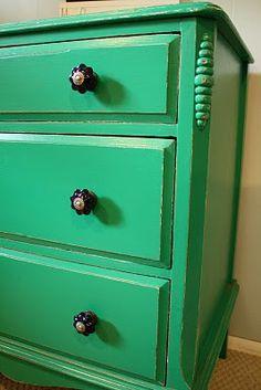 Primitive & Proper: emerald and navy dresser