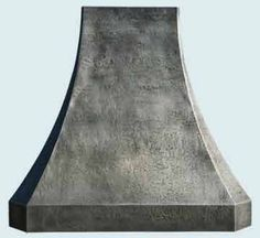 French Sweep medium patina zinc range hood from HandCrafted Metal of Austin, TX