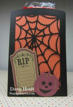 Quick and easy treat pouch using the #CTMH Artfully Sent #Cricut Cartridge and Scaredy Cat paper and complements.  Available at stamptildawn.ctmh.com