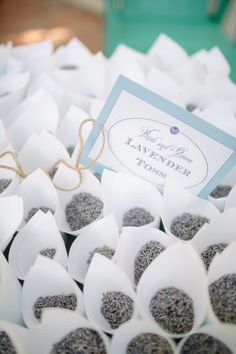 Dried lavender wedding toss. I know I'm already married ;) but what a nice alternative to bubbles!