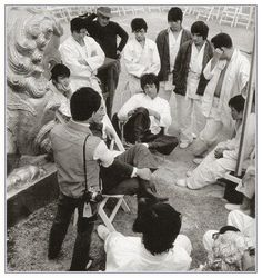 Pause during filming - Enter the Dragon.