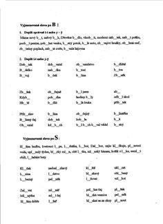 Výsledek obrázku pro vyjmenovaná slova po b pracovní list Math Equations, Education, Cuba, Onderwijs, Learning