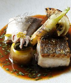 Fish stew with fillets of hake and gurnard recipe - Luke Holder's penchant for locally sourced ingredients has clearly influenced this complex yet hugely rewarding fish stew recipe. Using hake and gurnard - two less popular but no less flavoursome and often more sustainable fish - Luke combines a number of ingredients to give this seafood recipe great depth and character.
