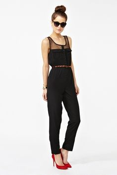 "A jumpsuit is a garment incorporating trousers and a sleeved top in one piece. ""Mad Mesh Jumpsuit."" In What's New at Nasty Gal. N.p., n.d. Web. 29 Mar. 2013. ."