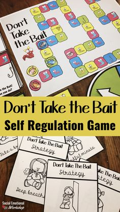 Self regulation game for school counseling to help students practice strategies and identify triggers. Strategy cards, scenarios, and plans for students to work through. Social Emotional Workshiop
