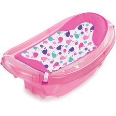 Summer Infant Sparkle 'n Splash Newborn to Toddler Baby Bath Tub, Pink