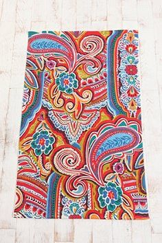 painted paisley rug