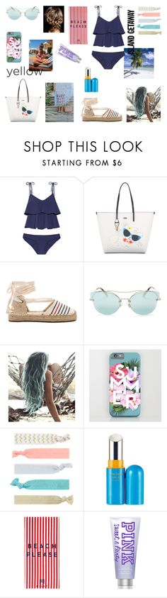 """#1"" by nicolleeliza ❤ liked on Polyvore featuring Lisa Marie Fernandez, Karl Lagerfeld, Soludos, Miu Miu, Prada, Accessorize, TRESemmé, Shiseido and Milly"
