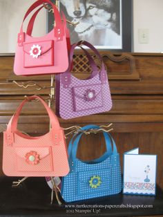 another set of cute purses....amde of paper