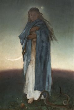 Witold Pruszkowski - Madonna - Category:Paintings in the Lviv Art Gallery — Wikimedia Commons Virgin Mary Art, Moonlight Painting, Holy Family, My Favorite Image, Mother Mary, Beauty Art, Religious Art, Our Lady, Figurative Art