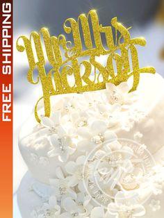 FREE SHIPPING!!! Wedding Cake Topper. Gold Cake Topper. Glitter Cake Topper. Personalized Cake Topper. Custom Cake Toppers. FREE SHIPPING!