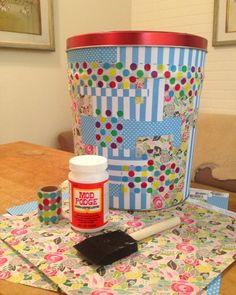 Upcycled Holiday Popcorn Tin Idea