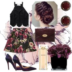 wild plum by jennifertheetge on Polyvore featuring polyvore fashion style Abercrombie & Fitch Girls On Film Mulberry ADORNIA Salvatore Ferragamo Hervé Gambs