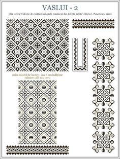 Flowers for Paint or Embroidery Aunt Martha's Hot Iron Embroidery Transfer - Embroidery Design Guide Celtic Cross Stitch, Cross Stitch Borders, Cross Stitch Designs, Cross Stitching, Cross Stitch Patterns, Folk Embroidery, Embroidery Patterns, Knitting Patterns, Pattern Pictures