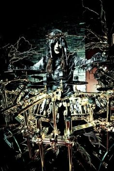 Joey Jordison. He's like God if God decided to become a drummer. He is the biggest inspiration to me towards becoming a better drummer.