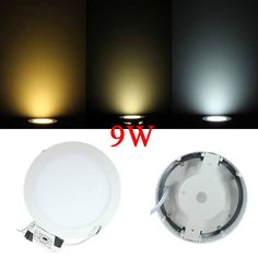 9W Round Dimmable LED Panel Ceiling Down Light Lamp AC 85-265V  Worldwide delivery. Original best quality product for 70% of it's real price. Buying this product is extra profitable, because we have good production source. 1 day products dispatch from warehouse. Fast & reliable...