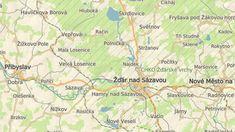 Jezírko Vápenice leží v lesích jen kousek na severozápad od Žďáru nad Sázavou, vede k němu turistická trasa. Map, Maps