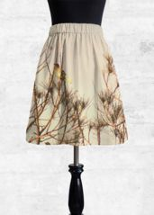Bird on the tree - Cupro Skirt by PhotosbyCris designs A Line Skirts, Midi Skirt, Bird, How To Wear, Beautiful, Design, Fashion, Moda, Fashion Styles