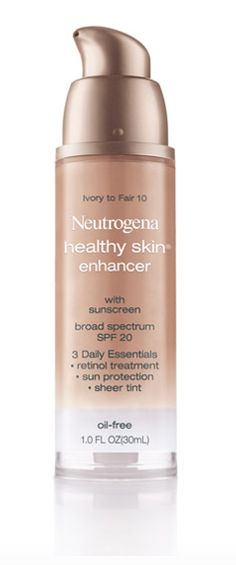 This drugstore find may be packaged like a typical foundation, but the oil-free sheer cream works more like an innovative tinted moisturizer with a demi-matte finish. Neutrogena Healthy Skin Enhancer SPF 20 ($10.49)
