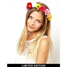ASOS Collection Limited Edition Festival Flower Headband by None, via Polyvore
