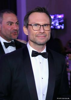 Pin for Later: 26 of the Cutest Candids From Inside the Golden Globes Christian Slater posed backstage.