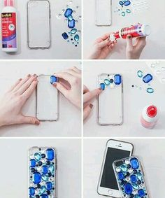 Grown up versions of your favorite old school crafts - phone covers diy Diy Phone Case, Iphone Cases, Diy Coque, Whatsapp Pink, Coque Smartphone, Phone Hacks, Ipod 5, Mobile Covers, Diy Mobile Cover