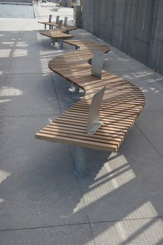 Hardwood Timber Seat Type 4 Wall Seat Outdoor Seating By