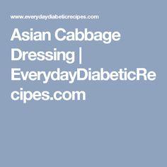 Asian Cabbage Dressing | EverydayDiabeticRecipes.com