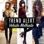 Trend Alert: Vestido em Veludo Molhado!