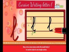 Cursive Letter Writing for Children - small letter l - Kids Educational Videos