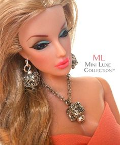 Doll jewelry for Barbie and Poppy Parker (by MiniLuxeCollection on Etsy, $23).