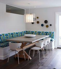 Sitzbank Und Kücheninsel Mit Gemeinsamer Rückenwand | Küche ... Esszimmer Elegant Und Modernbilder Galerie