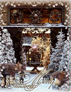 Merry Christmas & Happy New Year ! Merry Christmas Gif, Christmas Scenes, Merry Christmas And Happy New Year, Christmas Love, Christmas Pictures, Christmas Greetings, All Things Christmas, Winter Christmas, Christmas Lights
