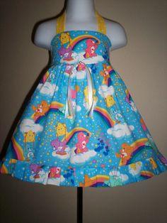 Boutique CARE BEARS RAINBOW Birthday Dress 6m 9m 12m 18m 24m 2T 3T 4T 5T 6yr - SarahsRainbow