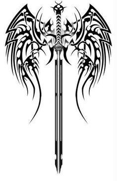 Celtic sword & wings