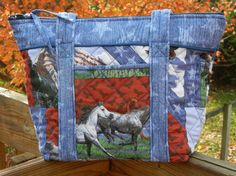 Quilted Fabric Handbag by craftcrazy4u on Etsy, $47.00