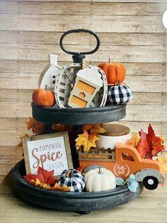 Spiced Coffee, Autumn Coffee, Fall Table, Thanksgiving Table, Tray Decor, Halloween, Fall Home Decor, Fall Kitchen Decor, Seasonal Decor