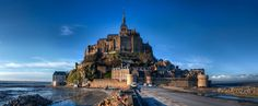 "An island commune in Normandy, France, Mont Saint-Michel is known as the ""Wonder of the West"" and attracts 3 million visitors per year. The Kingdom of Corona from Disney's Tangled was modeled after Mont Saint-Michel and is just as magical as the real thing."