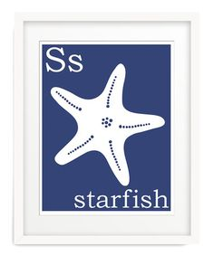 Take a look at this Navy S is for Starfish Giclée Print by Finny and Zook on #zulily today! $11-$28 !!